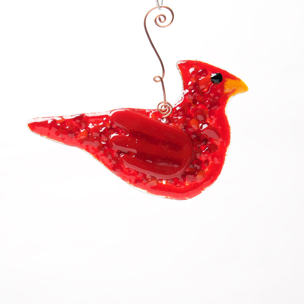 Cardinal Ornament, Suncatcher by Heidi Riha - © Blue Pomegranate Gallery