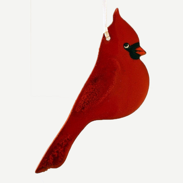 Cardinal Ornament by Molly Saunders - © Blue Pomegranate Gallery