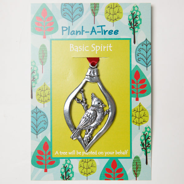 Cardinal Plant a Tree Ornament by Bonnie Bond - © Blue Pomegranate Gallery