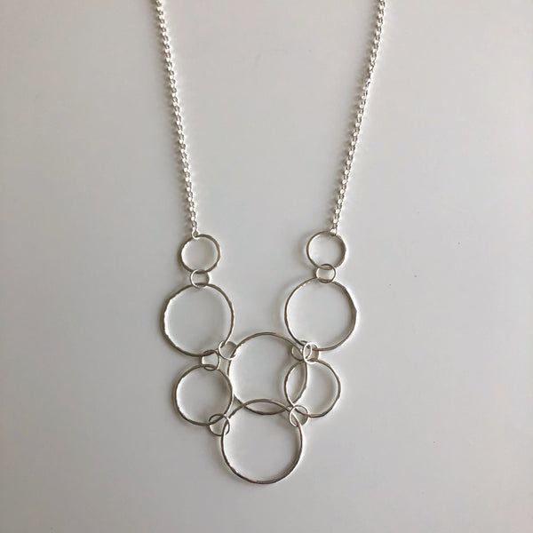Hammered Circles Necklace by Cassie Leaders - © Blue Pomegranate Gallery