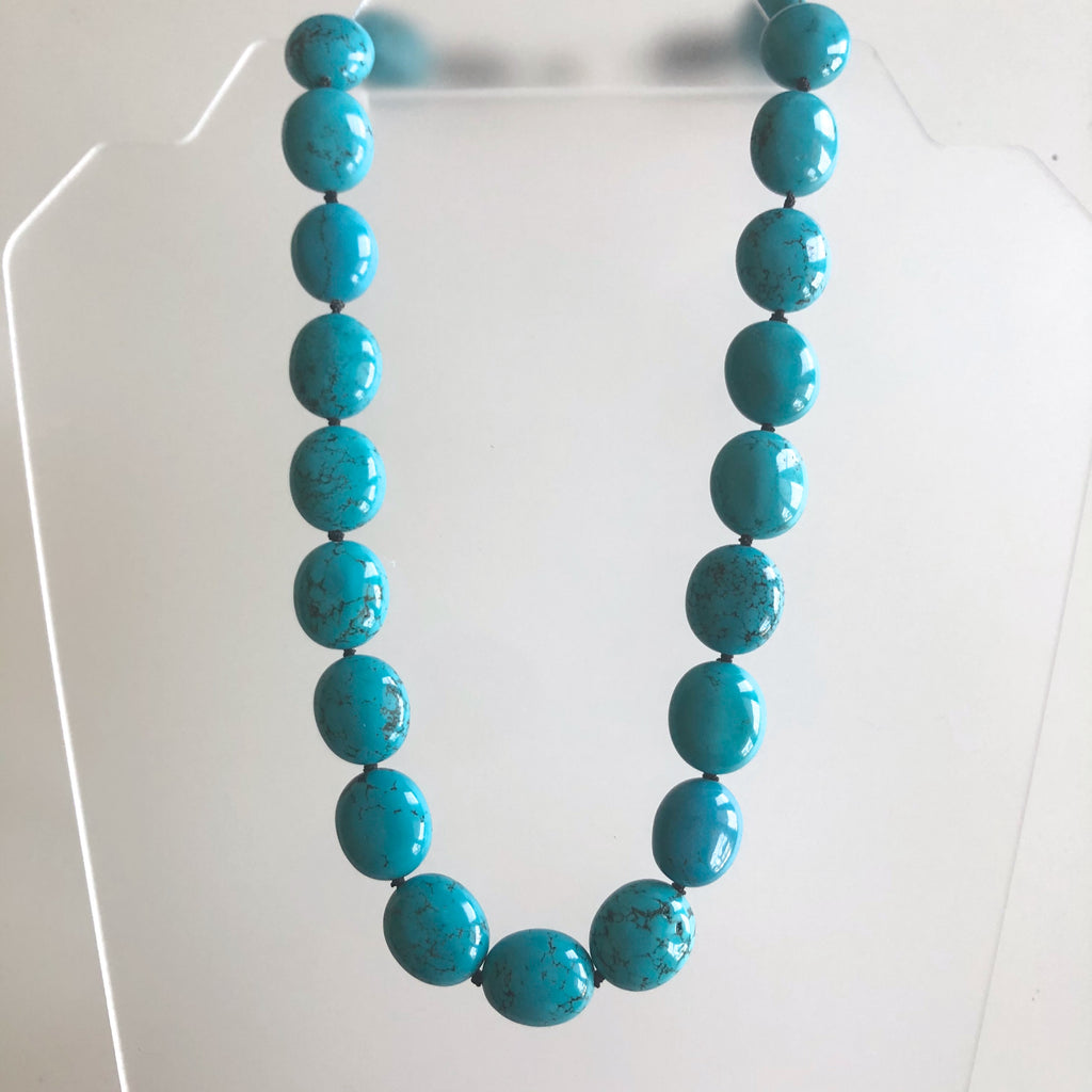 Turquoise Bead Necklace by Cassie Leaders - © Blue Pomegranate Gallery