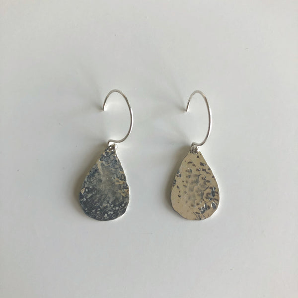 Hammered Teardrop Earrings by Cassie Leaders - © Blue Pomegranate Gallery