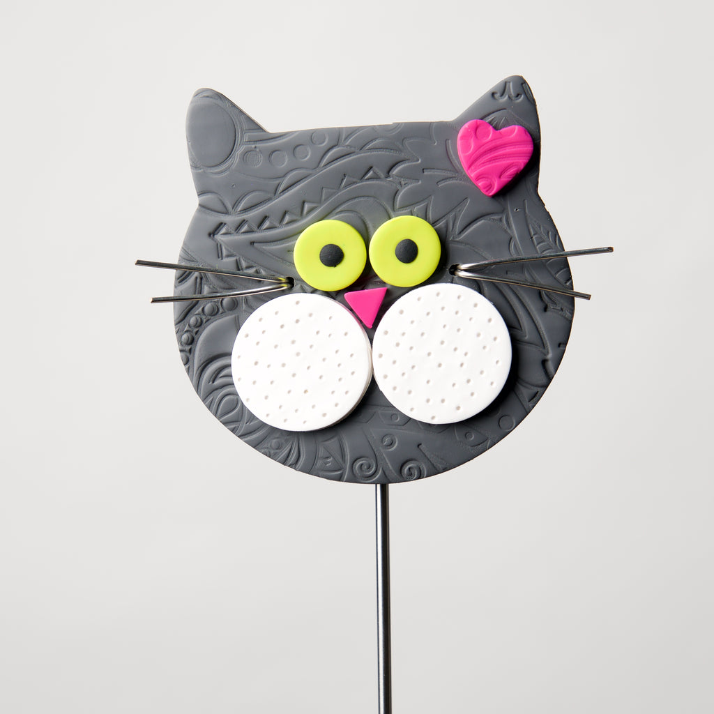 Cat Face Poke by Kristi Thorndike Kent - © Blue Pomegranate Gallery