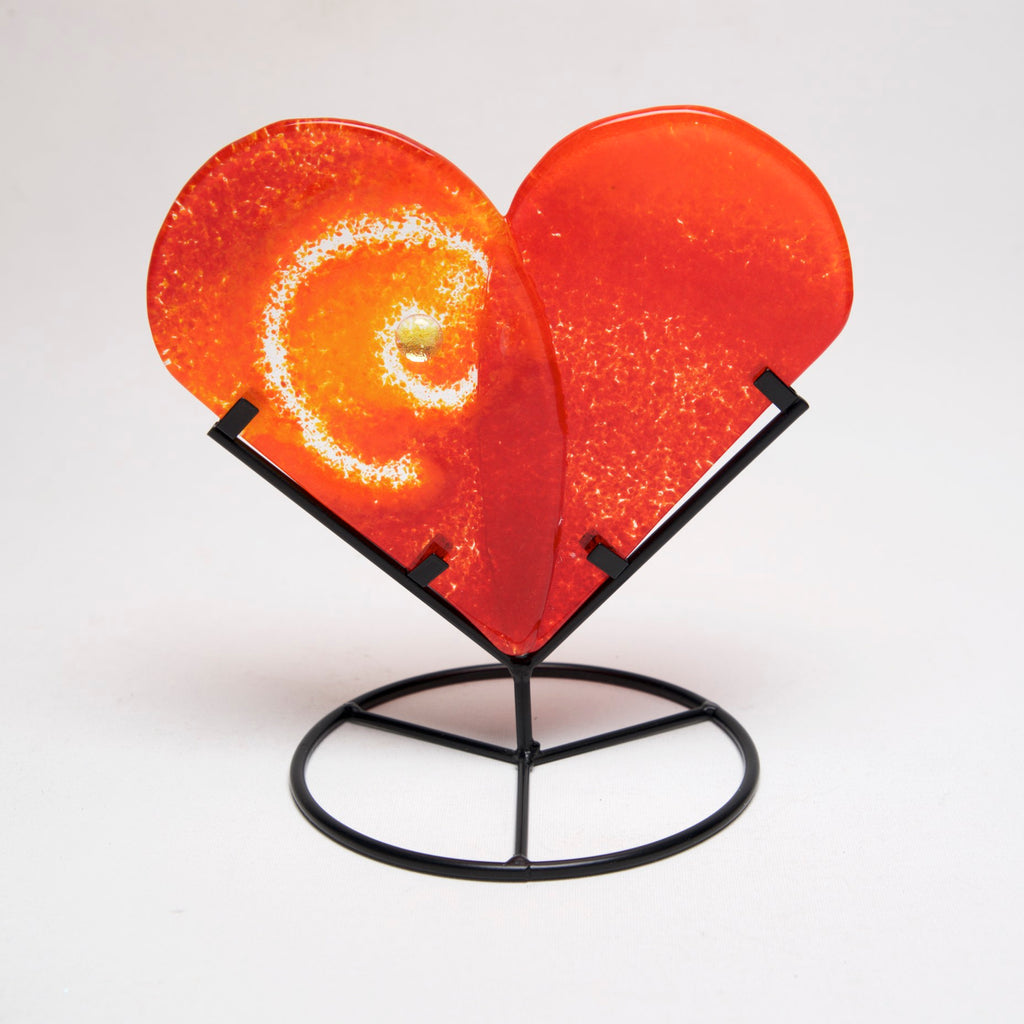 Large Heart in Stand by Charlotte Behrens - © Blue Pomegranate Gallery