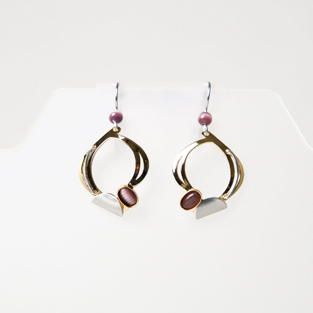 Hook Earrings HU582 by Christophe - © Blue Pomegranate Gallery