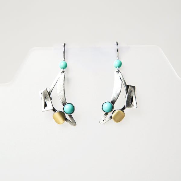 Hook Earrings HU884 by Christophe - © Blue Pomegranate Gallery