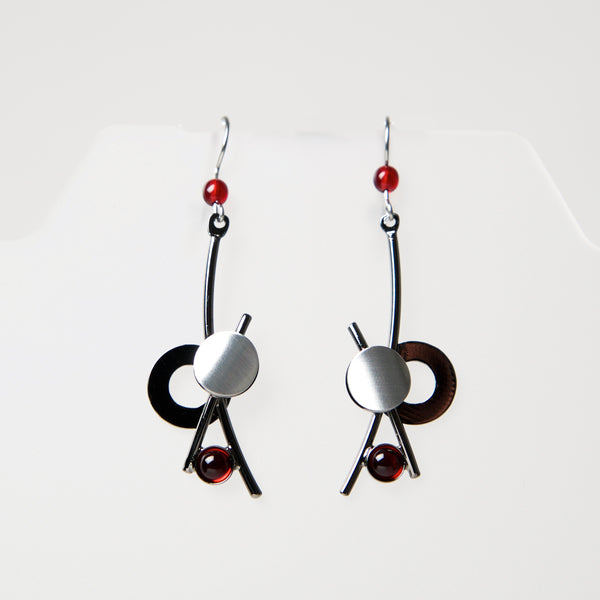 Hook Earrings KU334 by Christophe - © Blue Pomegranate Gallery