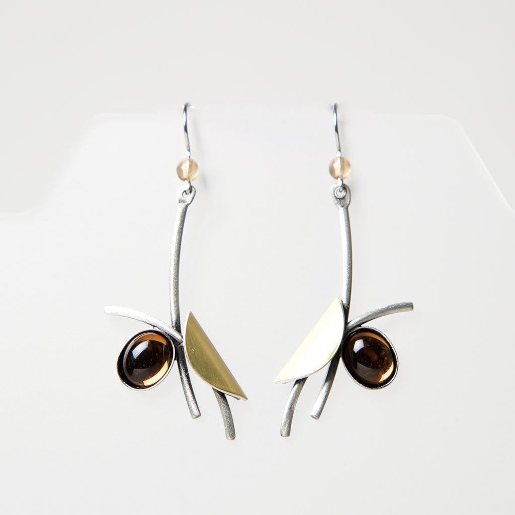 Hook Earrings LU132 by Christophe - © Blue Pomegranate Gallery