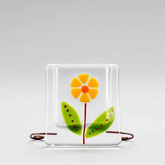 Glass Flower Vase by Ebba Krarup