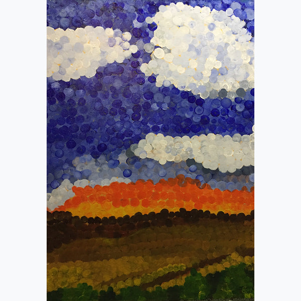 "Fire in the Sky by John C Durr 32""x45"" - © Blue Pomegranate Gallery"
