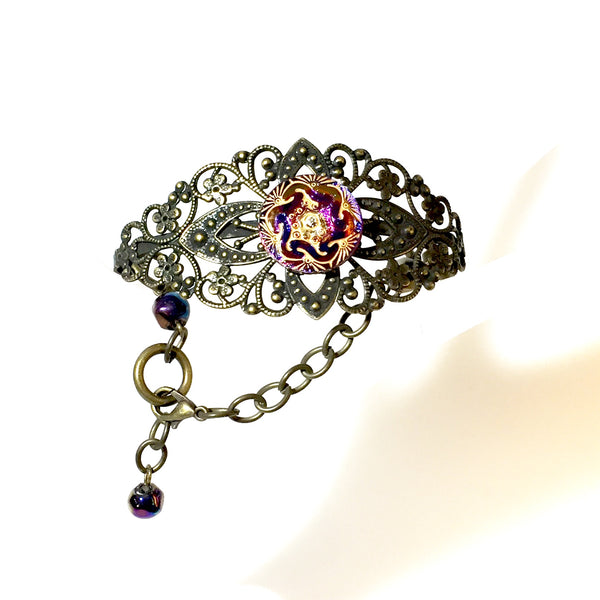 Nessa Bracelet, Purple,  by Stephanie Heller Durr - © Blue Pomegranate Gallery