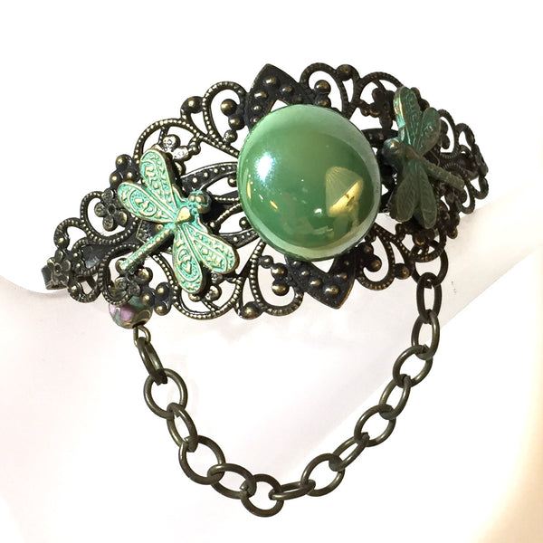 Nessa Bracelet, Green,  by Stephanie Heller Durr - © Blue Pomegranate Gallery