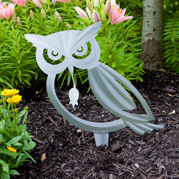 Garden Owl Large poke by Sondra Gerber - © Blue Pomegranate Gallery