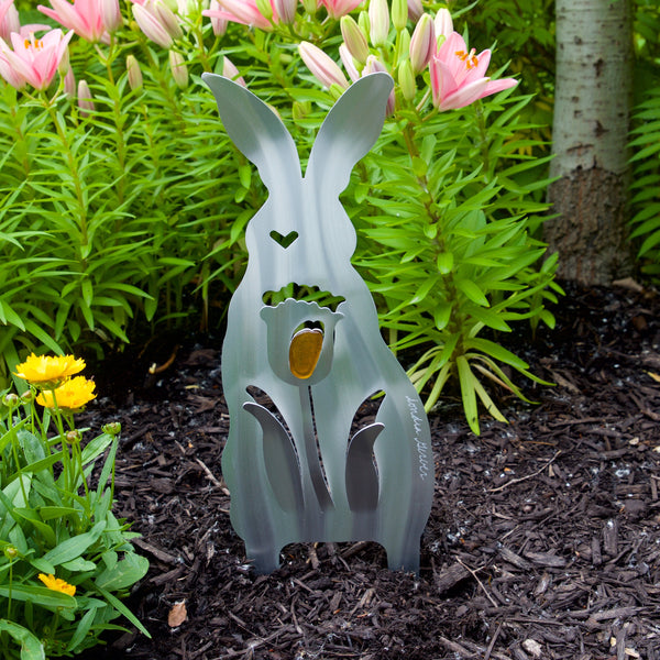 Garden Tulip Bunny small poke by Sondra Gerber - © Blue Pomegranate Gallery