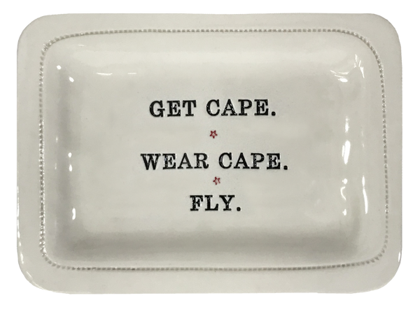 Get Cape. - 4x6 Porcelain Dish - © Blue Pomegranate Gallery