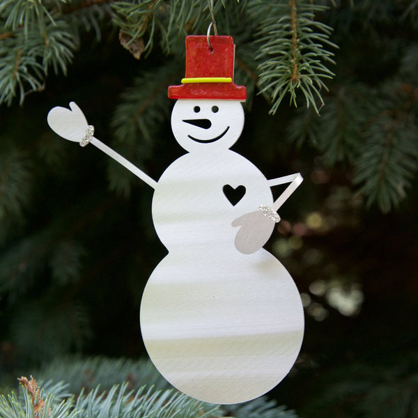 Smiling Snowman ornament by Sondra Gerber - © Blue Pomegranate Gallery