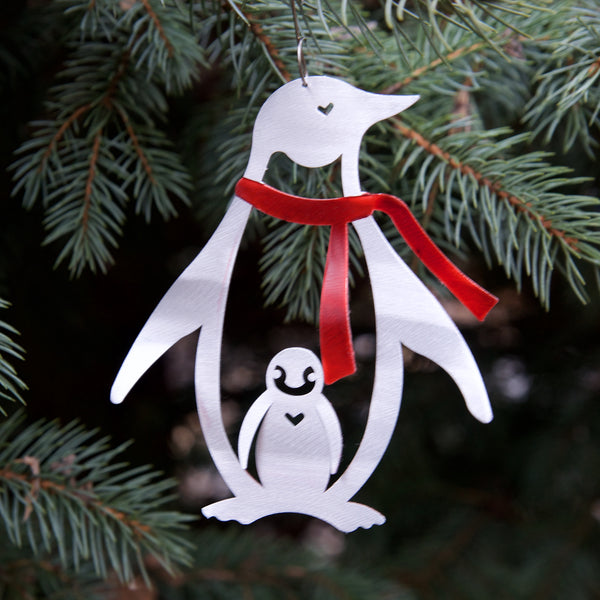 Penguin Ornament by Sondra Gerber
