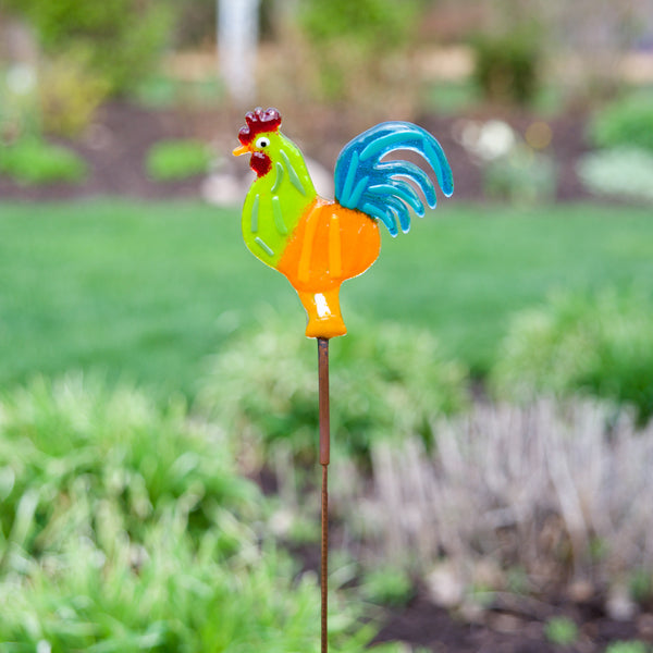 Rooster Garden Stake by Heidi Riha - © Blue Pomegranate Gallery