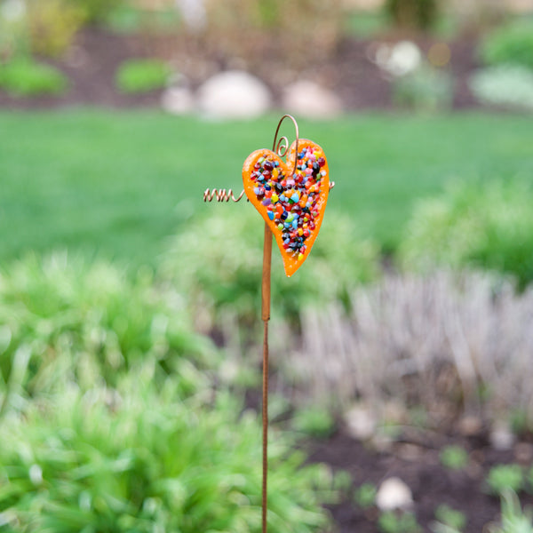 Heart Garden Stakes by Heidi Riha - © Blue Pomegranate Gallery