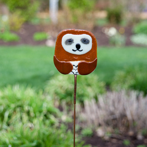 Sloth Garden Stake by Heidi Riha - © Blue Pomegranate Gallery