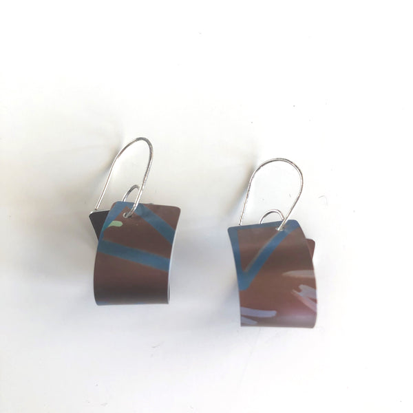 Anodized Aluminum, Sterling Silver Earrings by Jon Klar - © Blue Pomegranate Gallery