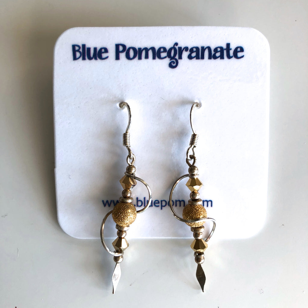 Spiral Earrings with Gold Beads by Mary Kahmann - © Blue Pomegranate Gallery