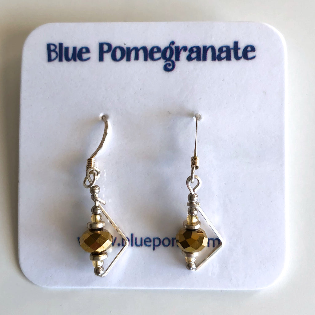 Simplistics Earrings with Gold Beads by Mary Kahmann - © Blue Pomegranate Gallery
