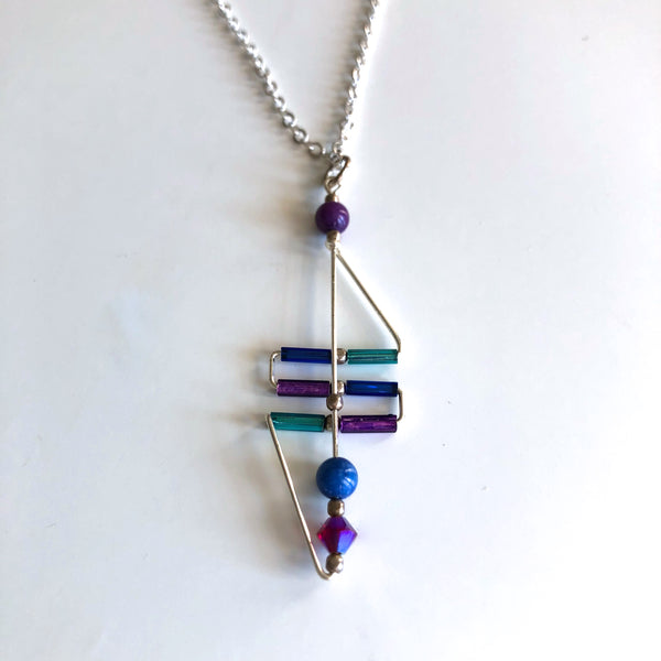 Art Deco Necklace Cobalt/Purple Bead by Mary Kahmann - © Blue Pomegranate Gallery