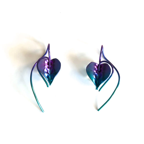 D85n-n Heart Strings Earrings by Mark Steel - © Blue Pomegranate Gallery