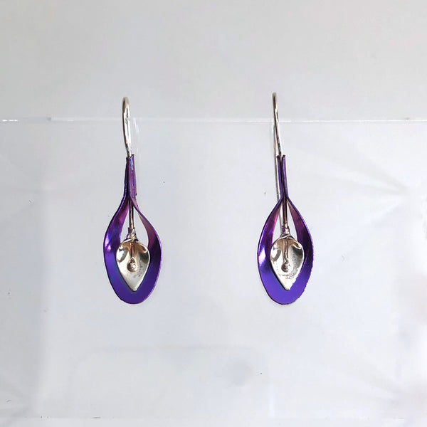 A49-ss Lily in Vase Earrings by Mark Steel - © Blue Pomegranate Gallery