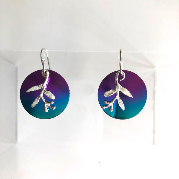 A45-ss Circled Berry Earrings by Mark Steel - © Blue Pomegranate Gallery