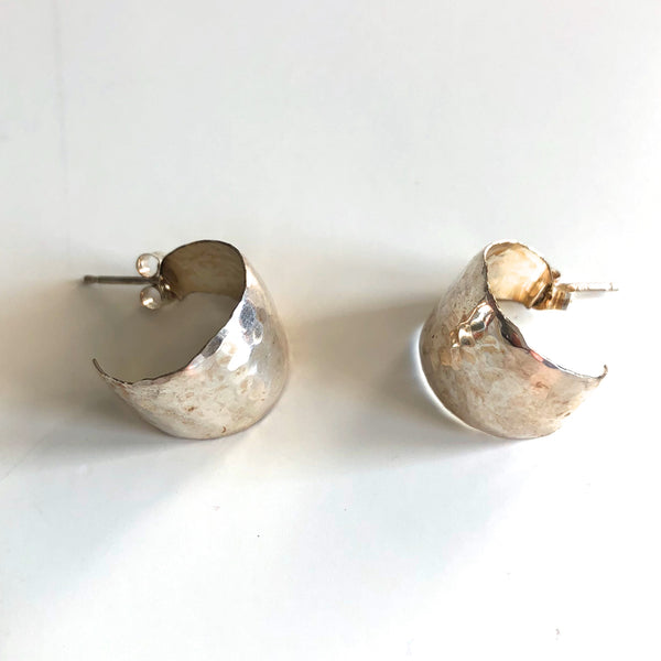 Large Ball Cuff Post Earrings by Mark Steel - © Blue Pomegranate Gallery
