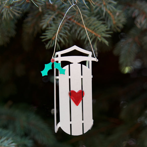 Sled ornament by Sondra Gerber