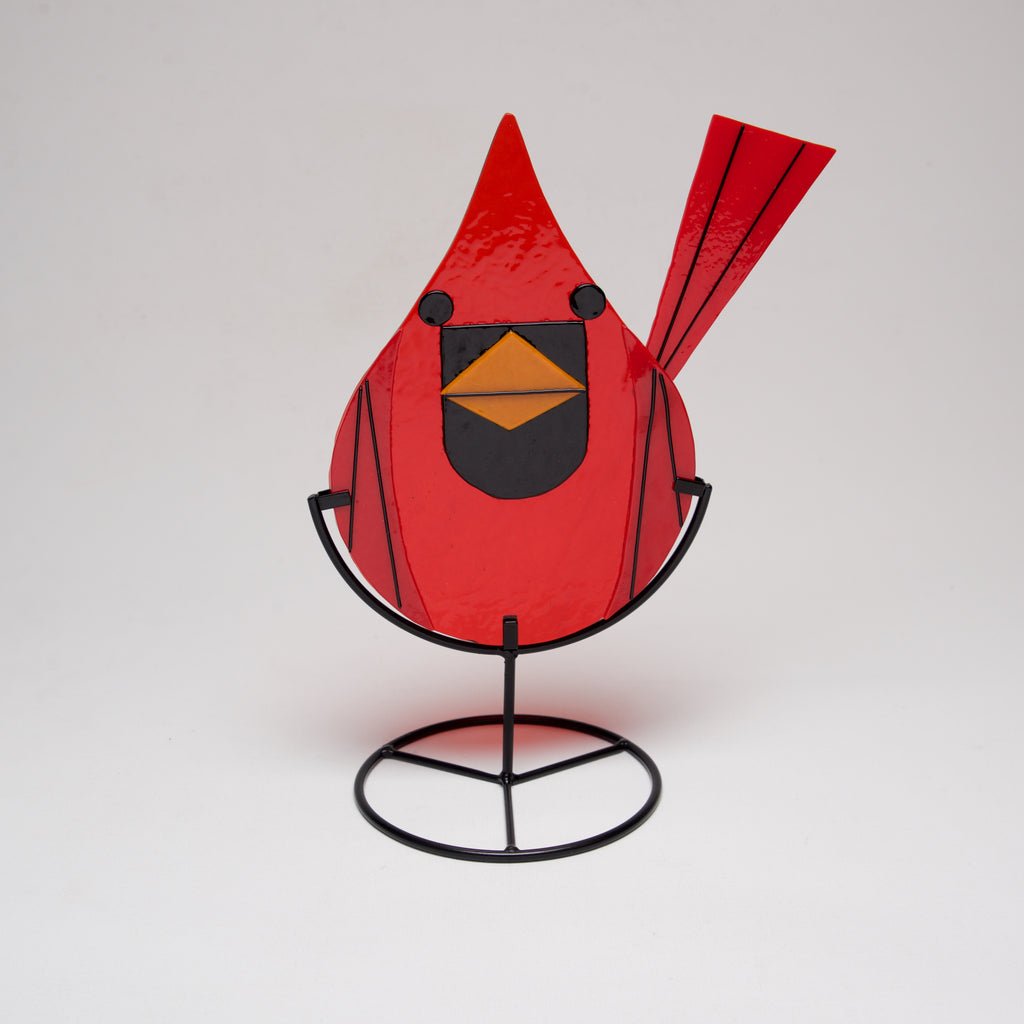 Harper Glass Cardinal by Sondra Gerber - © Blue Pomegranate Gallery