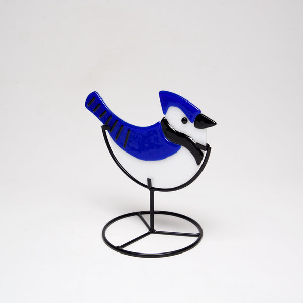 Glass Bluejay by Sondra Gerber - © Blue Pomegranate Gallery