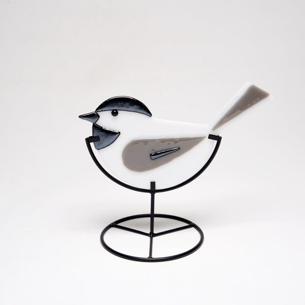 Glass Chickadee by Sondra Gerber - © Blue Pomegranate Gallery
