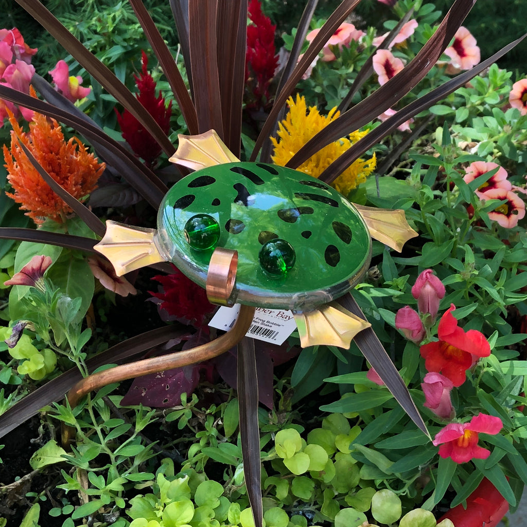 Bully the Frog Bobble Garden Stake - © Blue Pomegranate Gallery
