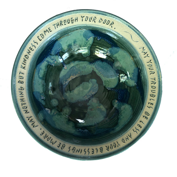 "Troubles be Less 10"" Bowl by Bryan Becker - © Blue Pomegranate Gallery"