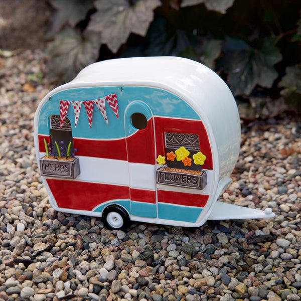Garden Get-a-way Camper by Sally Scott - © Blue Pomegranate Gallery