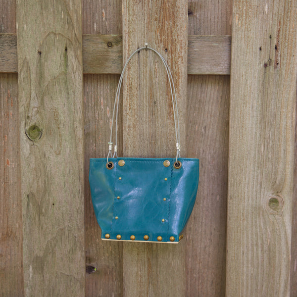 Sm Gloss Teal Runway Handbag by Renee Sonnichsen - © Blue Pomegranate Gallery