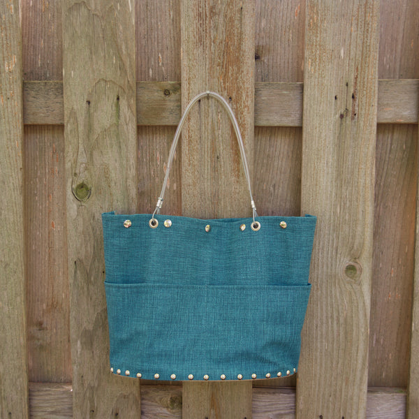 LG Blue Flair Tote by Renee Sonnichsen - © Blue Pomegranate Gallery