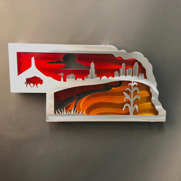Nebraska Heartland Wall Sculpture by Sondra Gerber - © Blue Pomegranate Gallery