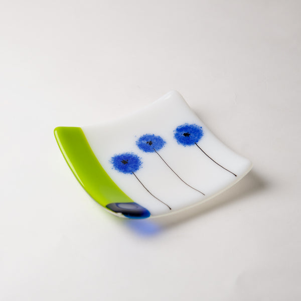 Blue Poppy Dish by Lisa Becker - © Blue Pomegranate Gallery