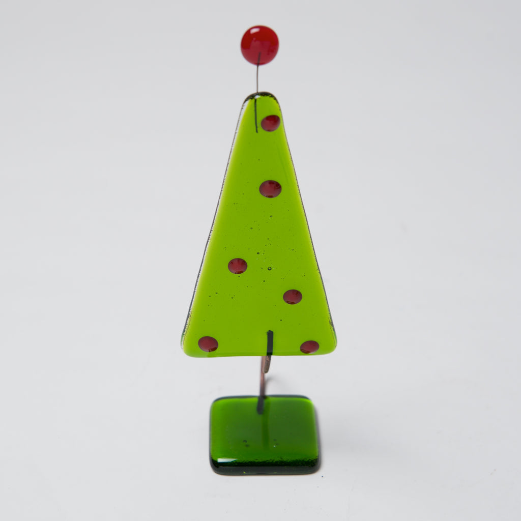 Green Tree w/ Red dots by Ebba Krarup - © Blue Pomegranate Gallery
