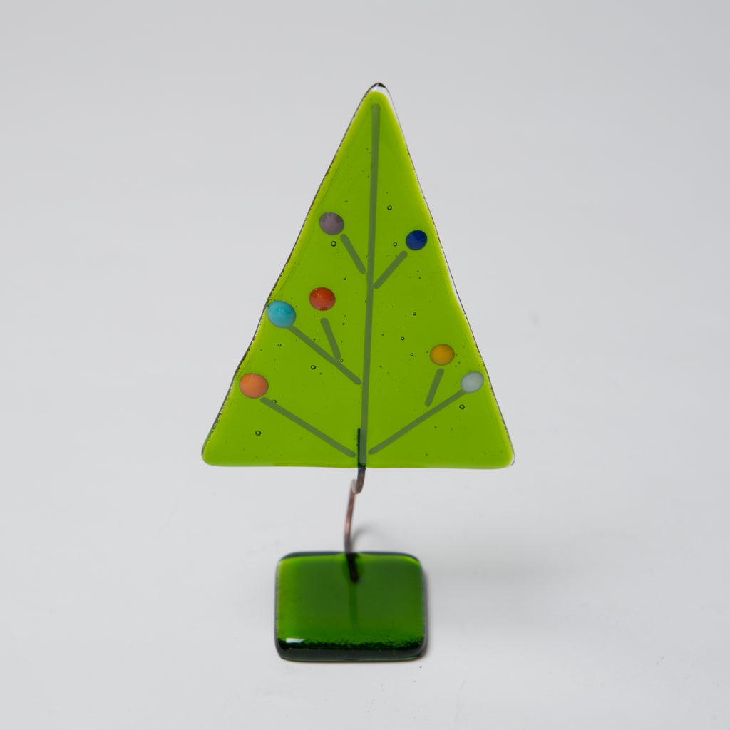 "Green w/ Dots 5"" Tree by Ebba Krarup - © Blue Pomegranate Gallery"