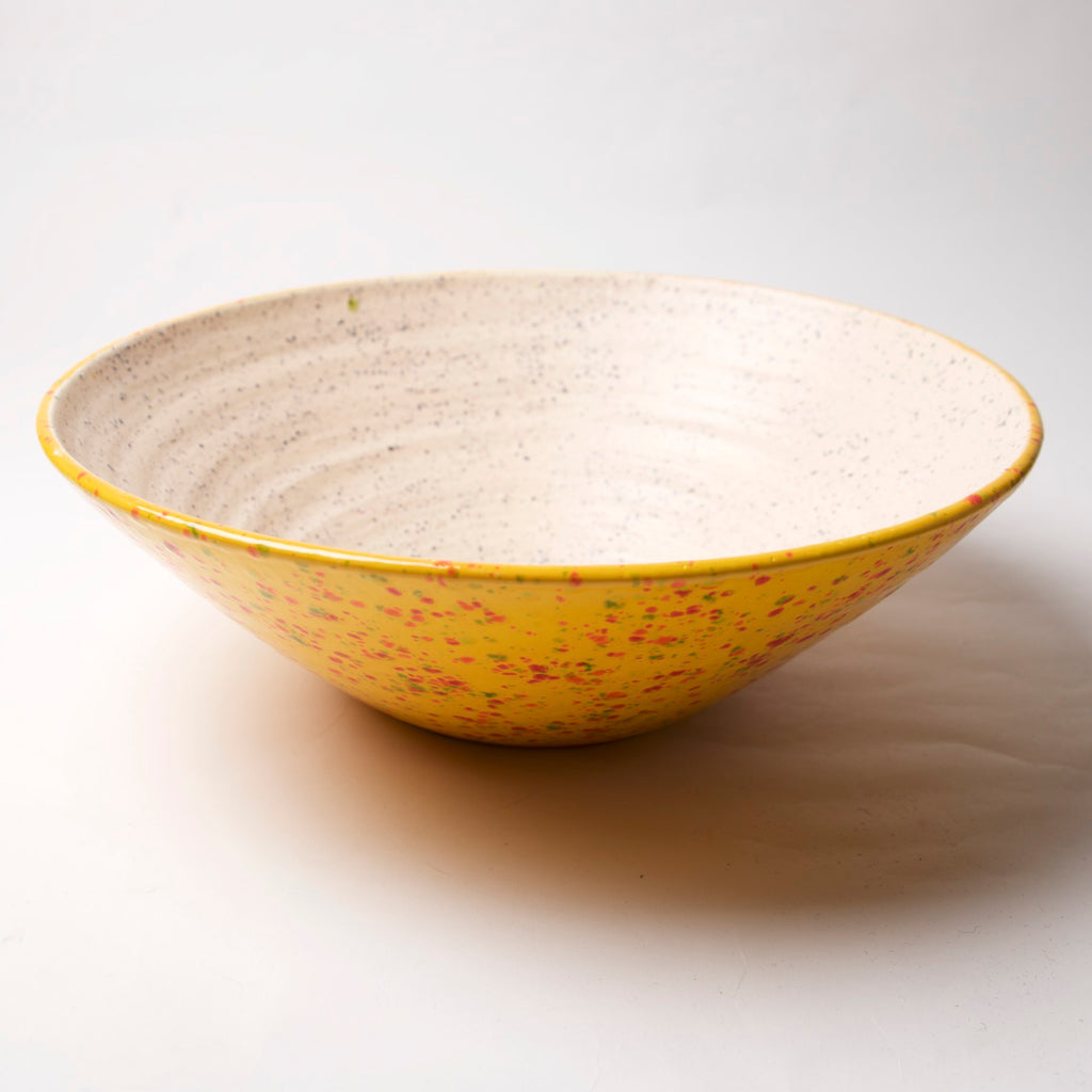 AX-17-A Large Serving Bowl Firecracker exterior by Tim Axtman - © Blue Pomegranate Gallery