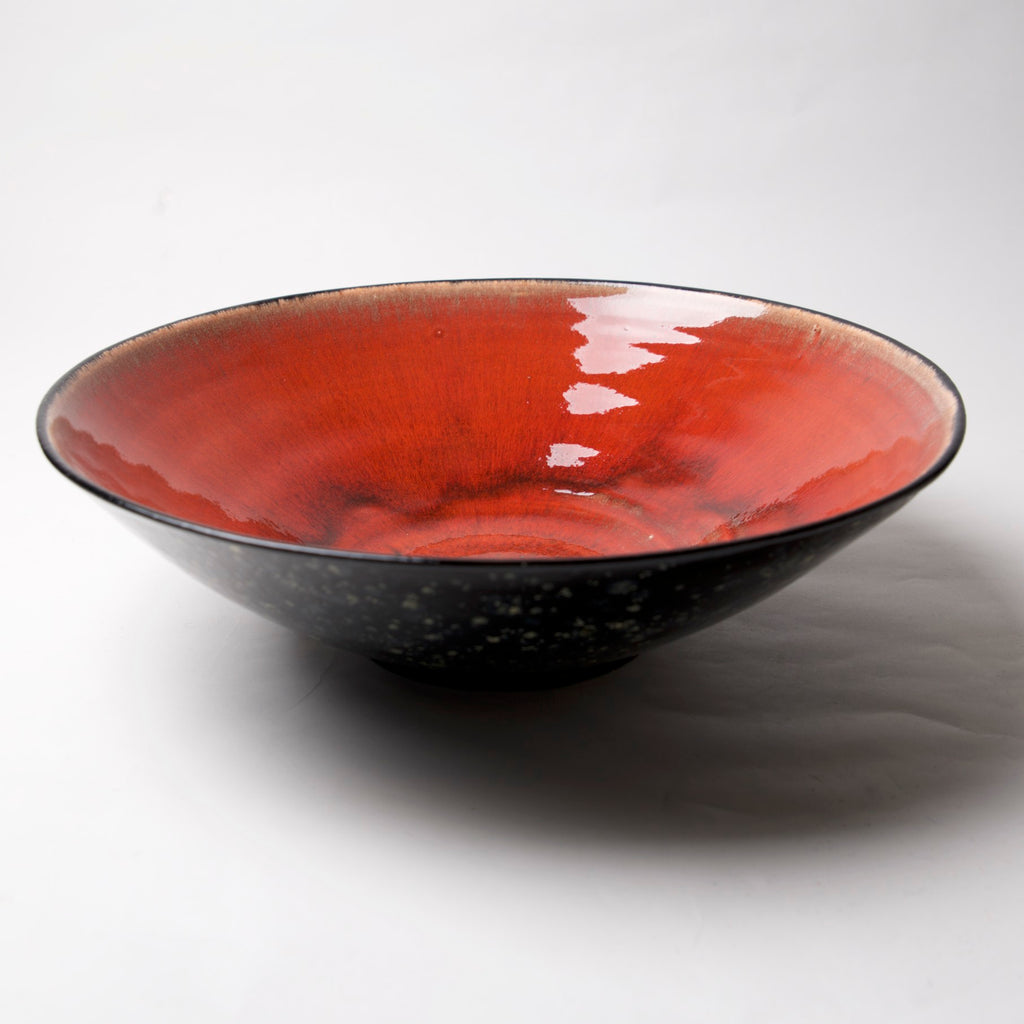 AX-142-A Large serving bowl Midnight sky exterior by Tim Axtman - © Blue Pomegranate Gallery