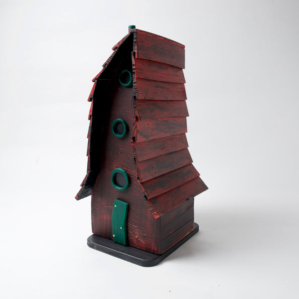 Crooked Red Bird House by Coulter & Determan - © Blue Pomegranate Gallery