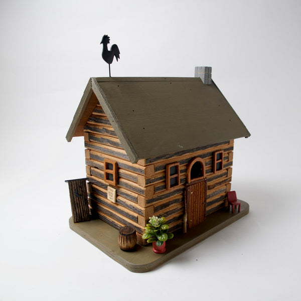 Little Log Cabin Bird House by Coulter & Determan - © Blue Pomegranate Gallery