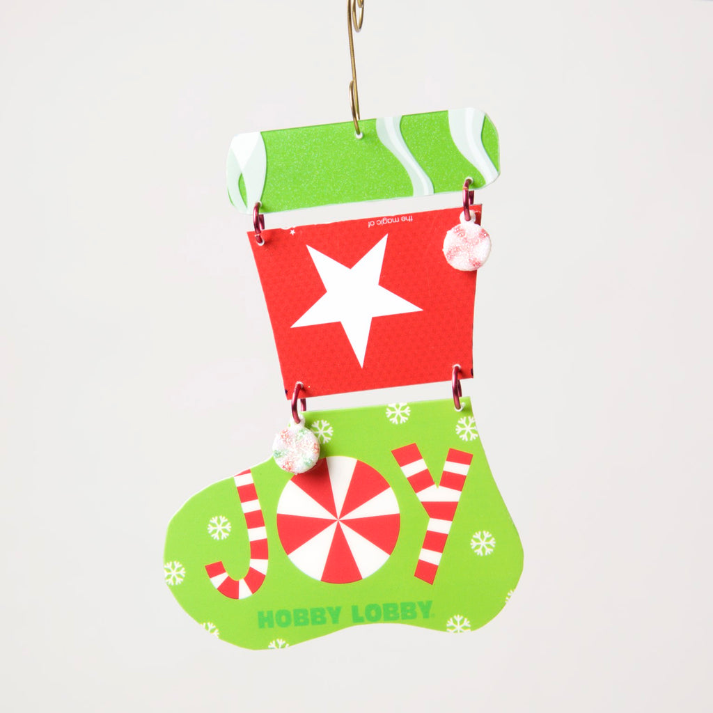 Stocking Ornament from recycled Giftcards - © Blue Pomegranate Gallery